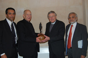 Dr Omar Hayat, Rev Harold Good, Father Alec Reid, Lord Bhikhu Parekh