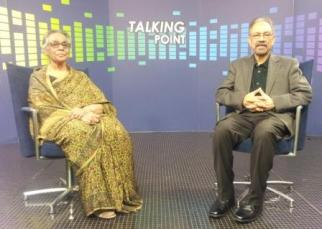 Shaheen Westcombe with Talking Point presenter Neaz Ahmad