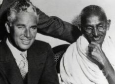 Chaplin and Gandhi in London 1931