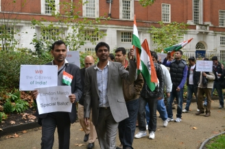 Absentee Ballot campaign march in London, conducted by Pravas Bharat in January 2013