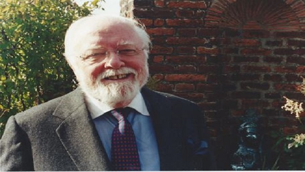 Richard Attenborough at Kingsley Hall 1996
