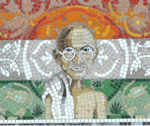 Gandhi mosaic